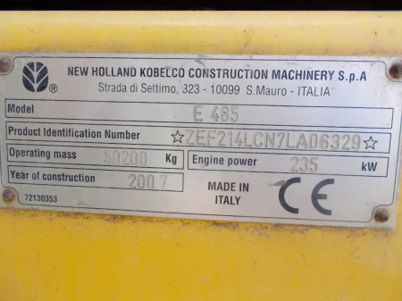 ekskavator new holland e485lch